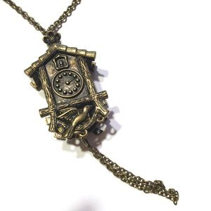 Cute Clock Long Necklace